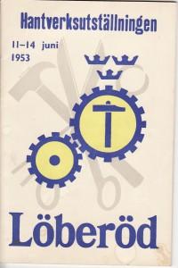 Hantverksutställningen 1953 Program